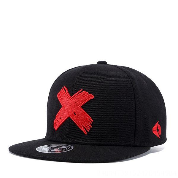 Sombrero negro Carta-ajustable Rojo