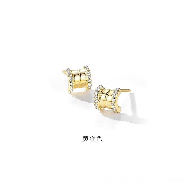 Gold (mit Kunststoff-Ohr-Stecker) -925 Silber
