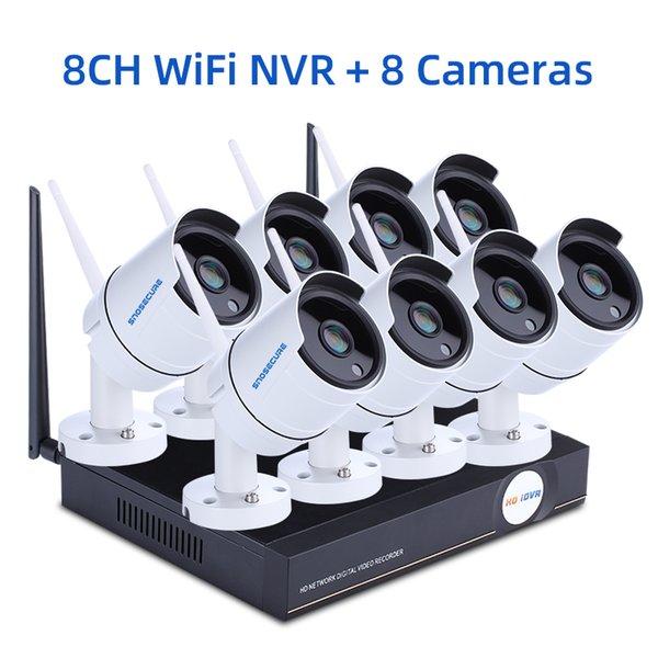 Nenhum EU Plug 8CH NVR e 8 Camera
