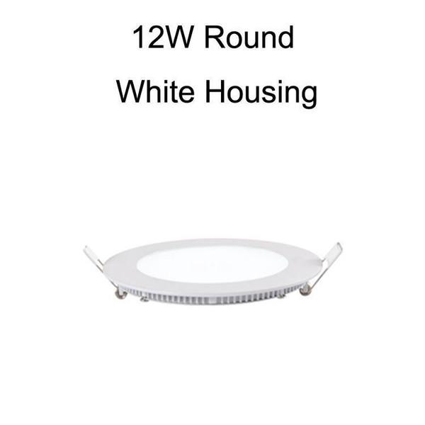 12W круглый корпус белого цвета