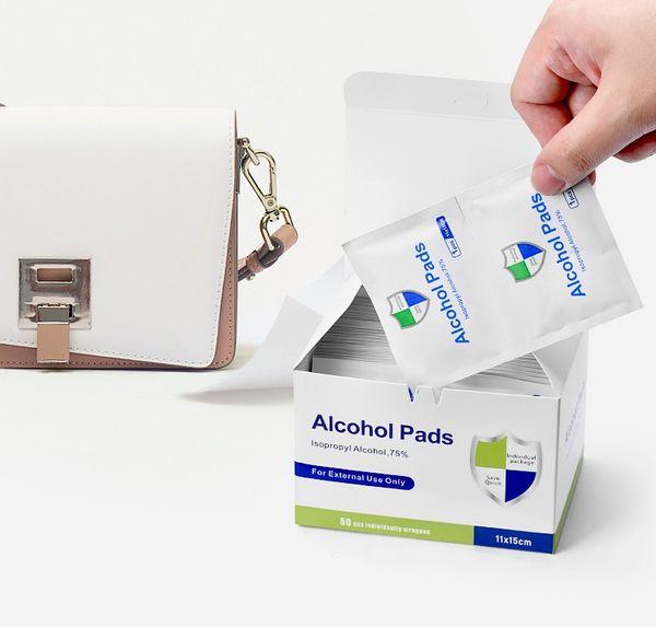 50pcs / caixa (embalagem individual) limpe = 11 * 15 centímetros