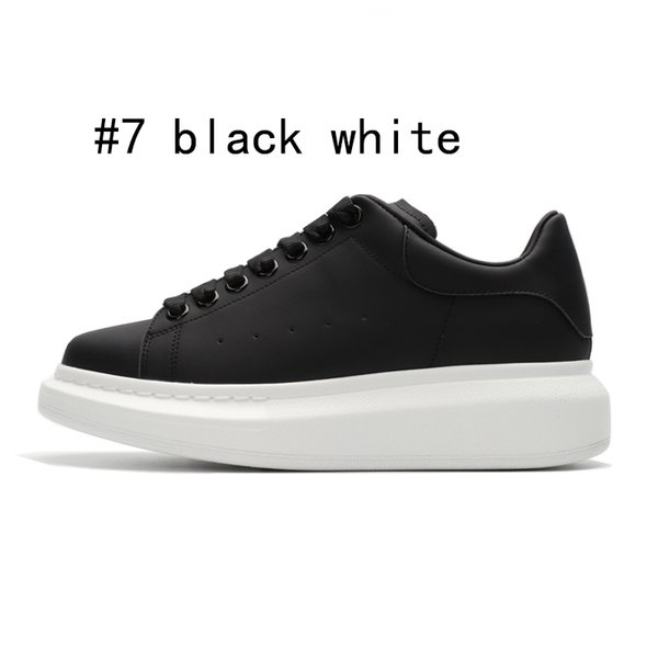 7 black with white sole 36-44