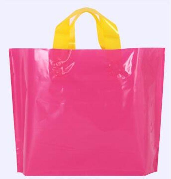 rosa roja 35x25cm x 10 cm 50 bolsas en blanco