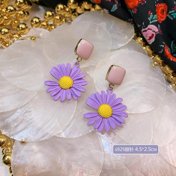 A4276 flor de la margarita de la aguja de plata