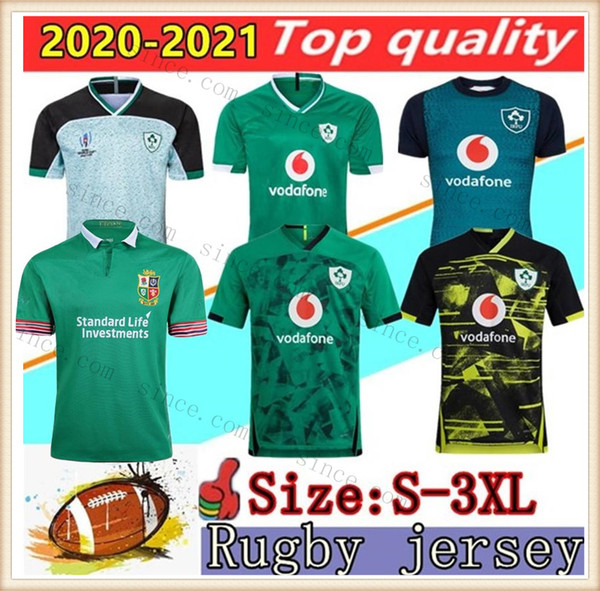 top popular 2020 2021 Ireland rugby Jerseys 2019 World Cup Ireland national team Home Away rugby Mens S-3XL League shirt POLO vest Top Quality 2020