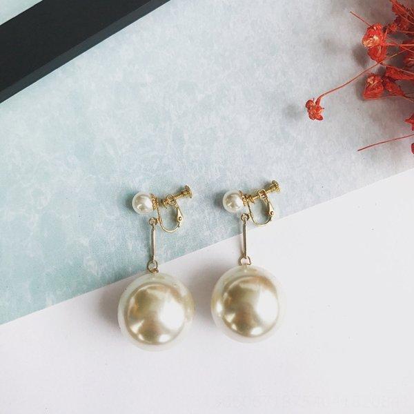 Clip del oído de la perla grande de la bola
