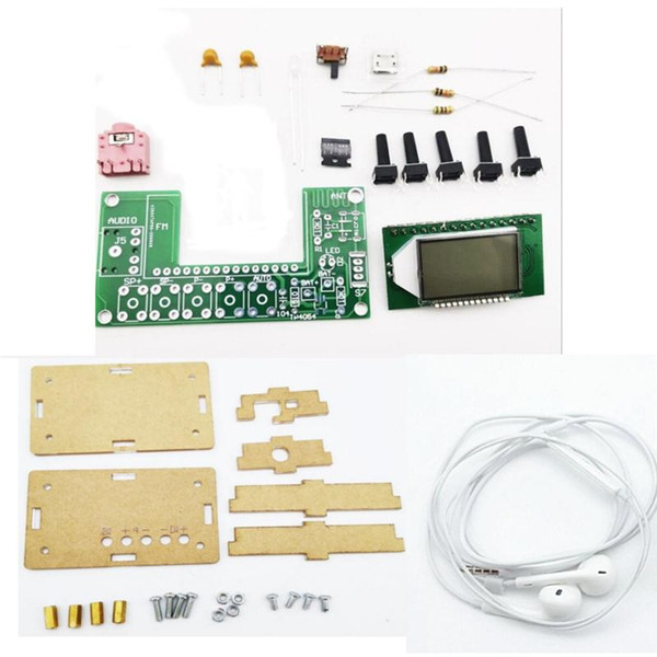 best selling DIY Electronic Kit Rechargeable FM Stereo Digital Radio Components LCD Display DSP PLL Automatically Search Campus Radio