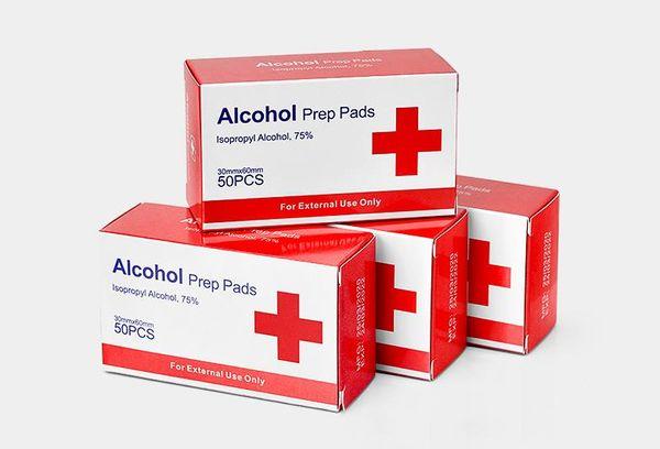 50pcs / caixa (embalagem individual) limpe = 6 * 3 centímetros