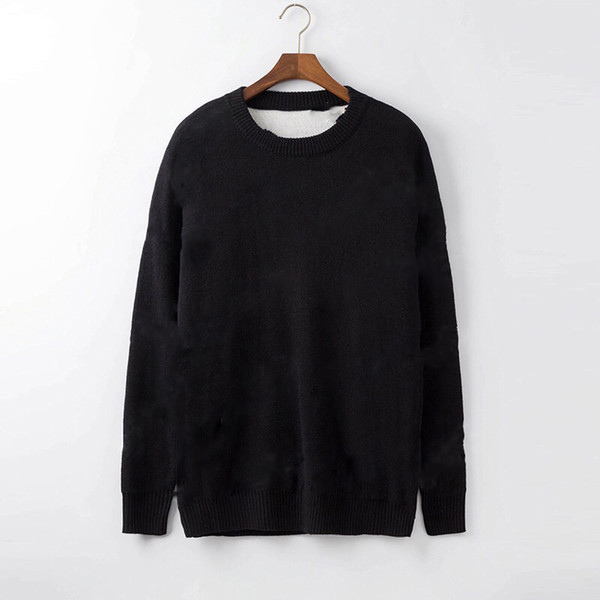 top popular Autumn Winter Black Sweaters Men Fashion Long Sleeve Letter Print Couple Sweaters Loose Pullover Designers Sweaters 2020
