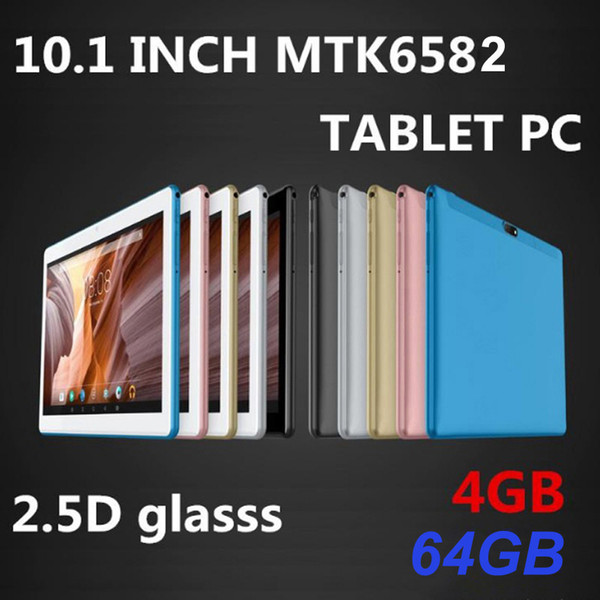 top popular 2020 High quality 10.1 inch MTK6582 2.5D glasss IPS capacitive touch screen dual sim 3G GPS tablet pc 2020
