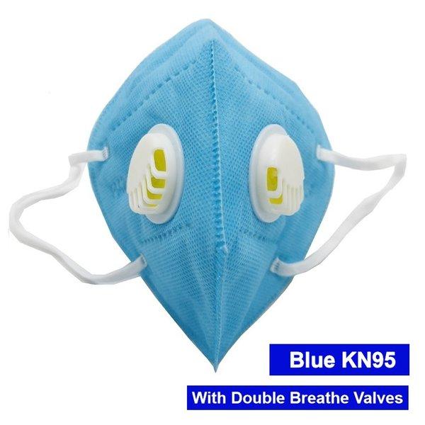 Máscara azul com 2 válvulas