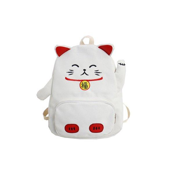 backpack white cat