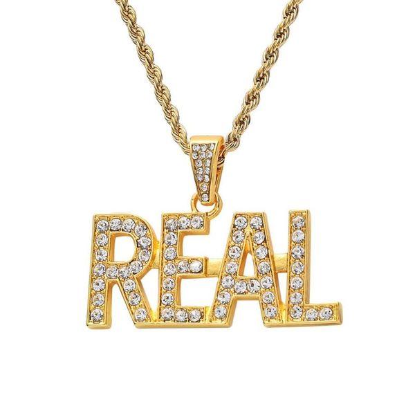 Ciondolo in oro a catena corda 24inch (61 centimetri)