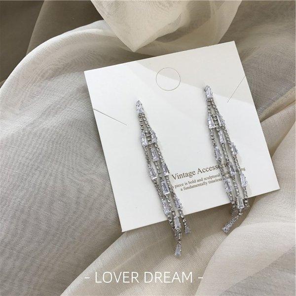 Argento con diamanti nappa Silver Needle