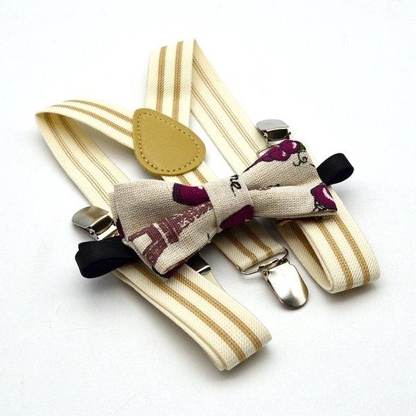 Молочно-белая полоса + Grape Bow Tie