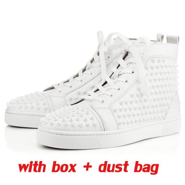 белые кожаные Шипы