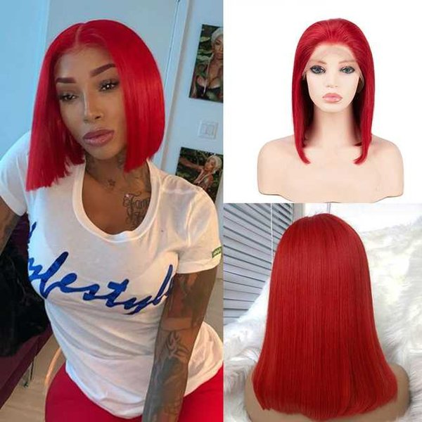 T Parte Lace Wig 12inches China Red