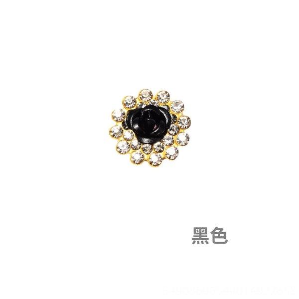 Black-9,8 milímetros (100 Piecesxpack) Single Lay