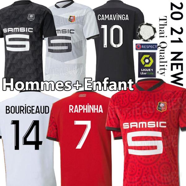 best selling Rennes 20 21 Stade Rennais fc soccer Jerseys away Niang BOURIGEAUD Terrier 2020 2021 maillot de foot Camavinga Hommes+Enfant football shirts