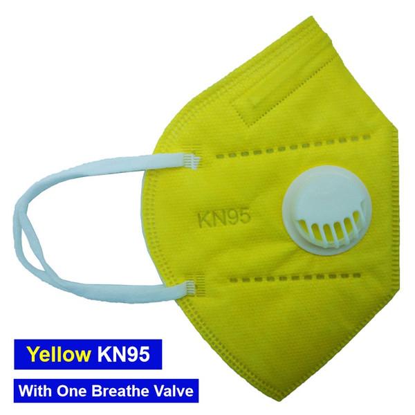 Máscara amarela com 1 Válvula