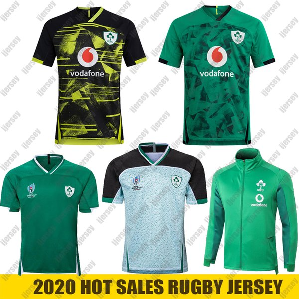 best selling 20 21 Ireland rugby Jerseys 2019 World Cup Ireland national team rugby Home Away jacket rugby shirt POLO vest S-5XL