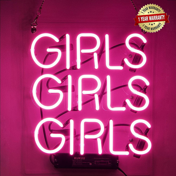 """best selling Neon Signs Girl Girls Neon Wall Decor Light Sign Led for Bedroom Words Cool Art Neon Sign Cute 12""""x10.6"""" Free Shipping"""