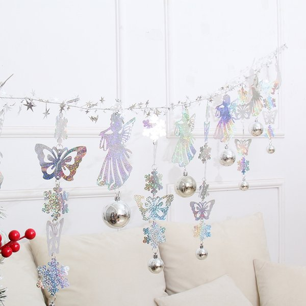 2 m Silver Snowflake Butterfly Angel