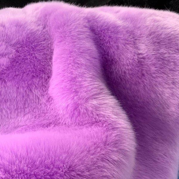 cappotto di pelliccia lavanda