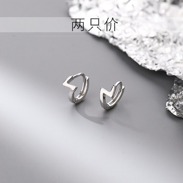 925 gümüş Z-şekilli kulak halkası (2 adet P