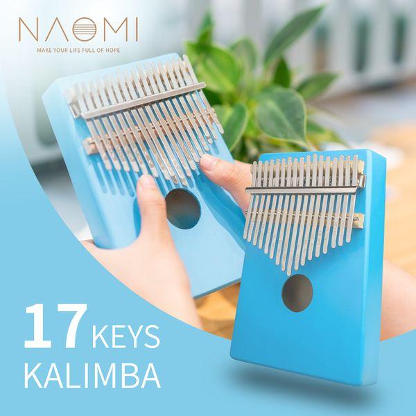 top popular NAOMI 17 Keys Kalimba Thumb Piano Finger Piano Gifts For Kids  Adults  Beginners 2021