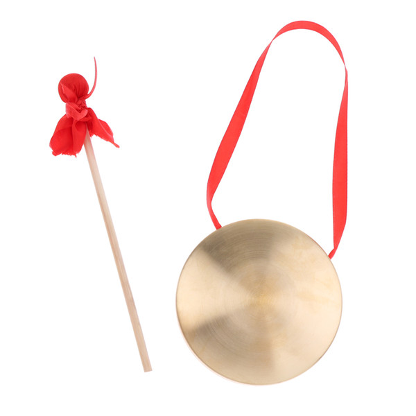 best selling Exquisite Copper Cymbal+Mallet Set Baby Toddler Musical Toys Christmas Birthday Gift