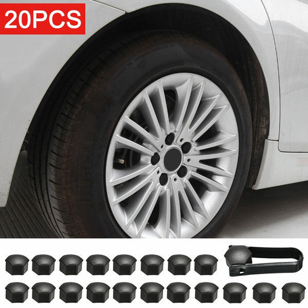 best selling Wheel Nut Cap For Tesla Model 3 Wheel Nut Covers Lug Wheel Cap Lug Nut Cover Puller Kit 21pcs Matt Black Gloss Black
