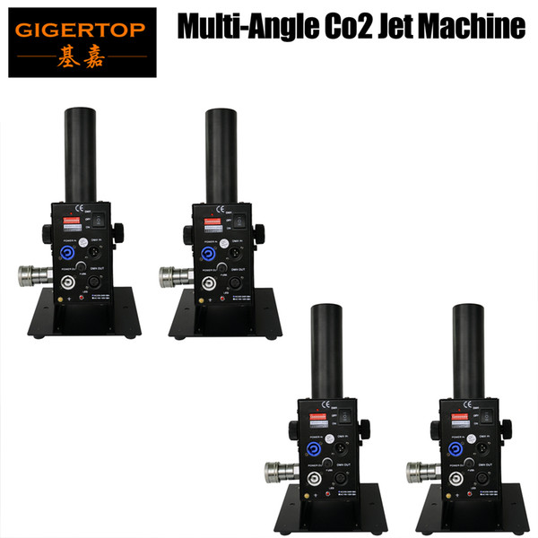best selling Freeshipping 4 x LOT Large Size Switchable DMX 512 Co2 Jet Machine Lockable Power Con Special Effect Dry Ice Fog Machine Adjustable Gas Jet