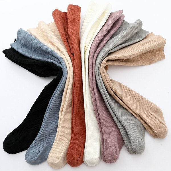 best selling high quality 2020 Baby tights new solid color children's pantyhose autumn winter thick warm tight cotton girls boy tight for kid clothing