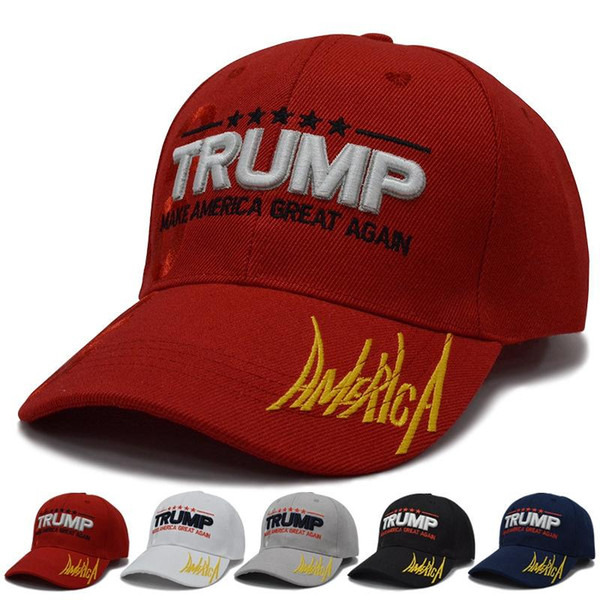 best selling DHL Free Ship 15styles Trump Baseball Cap Keep America Great Again Caps 2020 Campaign USA 45 American Flag Hat Canvas Embroidered Party Hats