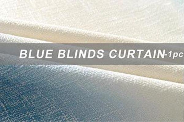 Blue Blinds Curtain