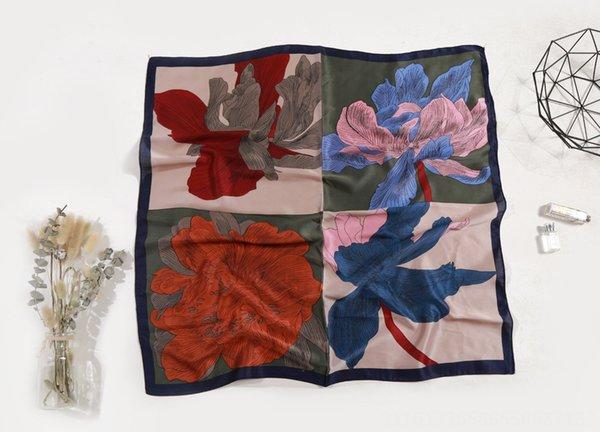 Dört çiçek Lacivert Kenar-70cm