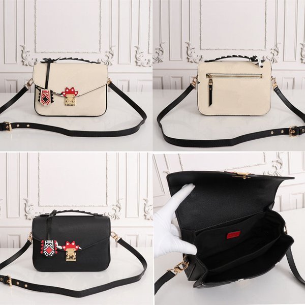 best selling 2020 CRAFTY POCHETTE MÉTIS Embossed Leather Extra-large Print Letters Braided Top Handle Graffiti Inspired Charm Shoulder messenger