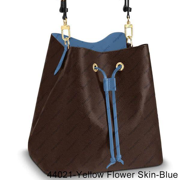 44021-Gelb Blumen-Haut-Blue-