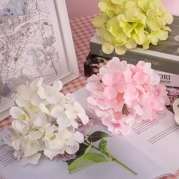 13-15cm Artificial Hydrangea Flower Head for Wedding Birthday Party Decoration DIY Garland Flower Wall Photography Background