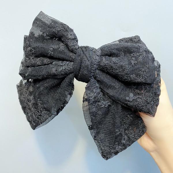 Três camadas Clipe Black Lace Primavera