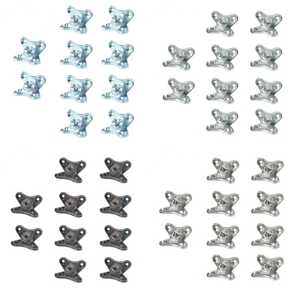 top popular Pack Of 40 Pieces Corner Brace Joints Right Angle Shelf Bracket Supports 2021