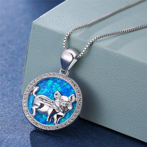 El ópalo azul de plata