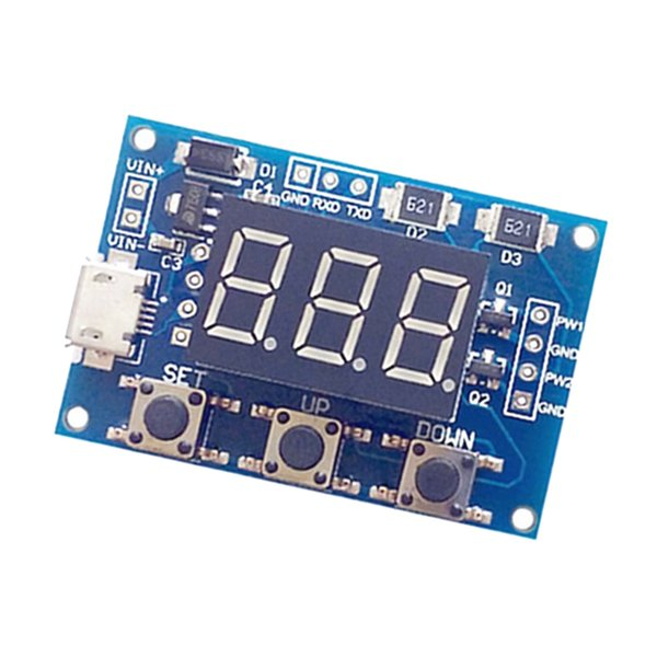 top popular 2 Channel PWM Pulse Frequency Duty Cycle Square Wave Adjustable Signal Generator Module LCD Display 2020