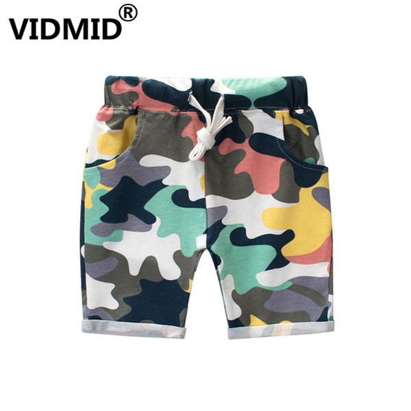 best selling VIDMID Children Boys Shorts Printing Camouflage shorts Casual Straight Elastic Waist Kids Shorts For 2-8 Years trousers 4037 03