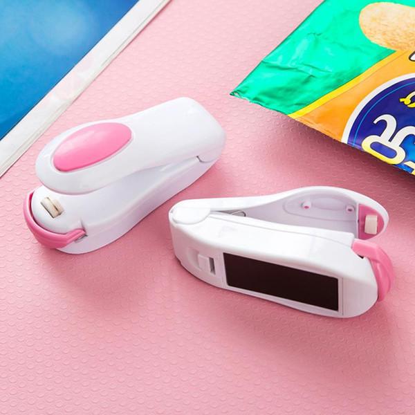 top popular 6 Color Mini Package Sealing Machines Heat Sealer Vacuum Resealer Snacks Bags Tools Plastic Handy Portable Kitchen Storage 2021