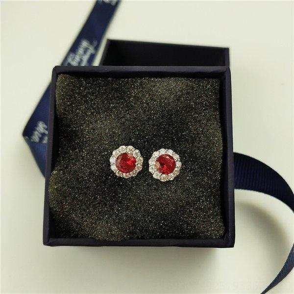 Red Rose platino orecchini