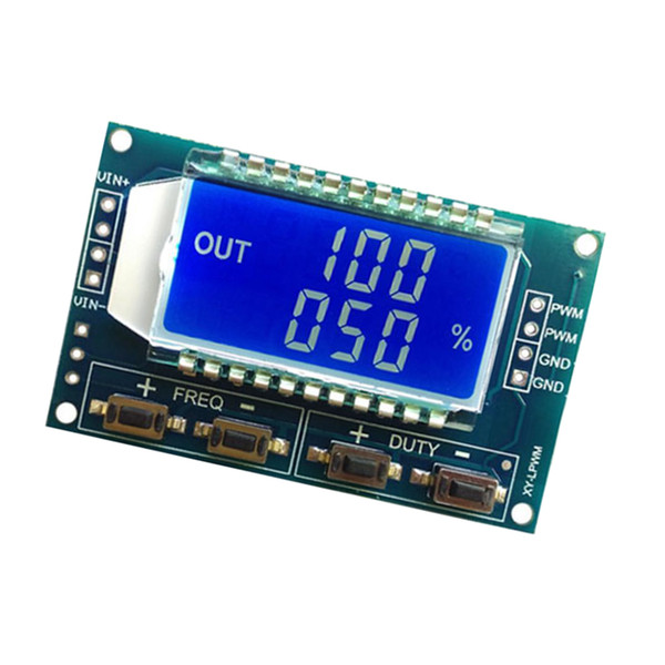 best selling PWM Pulse Frequency Duty Cycle Adjustable Square Wave Signal Generator Module LCD Display Blue Backlit