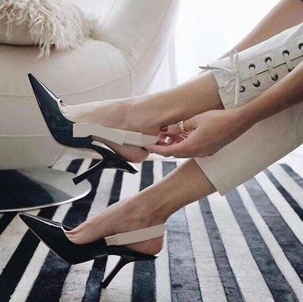черные блестящие каблуки 9,5 см