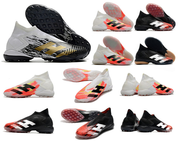 top popular 2020 Predator Mutator 20+ TF IN InFlight Uniforia Indoor Turf PP Paul Pogba Mens Slip-On Soccer Football Shoes 20+x Cleats Boots Size 39-45 2020
